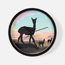 Desert Hills Alpacas Wall Clock