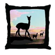 Desert Hills Alpacas Throw Pillow