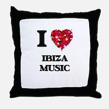 I Love My IBIZA MUSIC Throw Pillow
