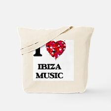 I Love My IBIZA MUSIC Tote Bag