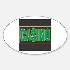 Green Casino Logo Oval Decal