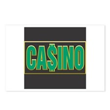 Green Casino Logo Postcards (Package of 8)