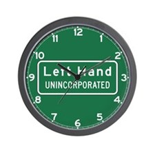 Left Hand, West Virginia, US Wall Clock