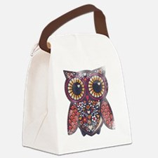 Owl Canvas Lunch Bag