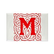 Initial M Rectangle Magnet