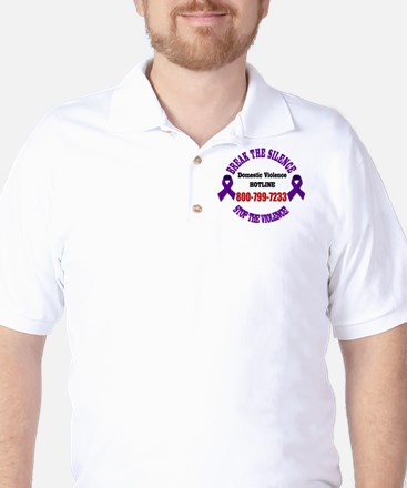 Break the Silence of Domestic Violence Golf Shirt