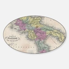 Vintage Map of Southern Ita Decal