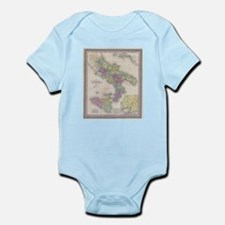 Vintage Map of Southern Italy (1853) Body Suit
