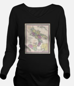 Vintage Map of South Long Sleeve Maternity T-Shirt