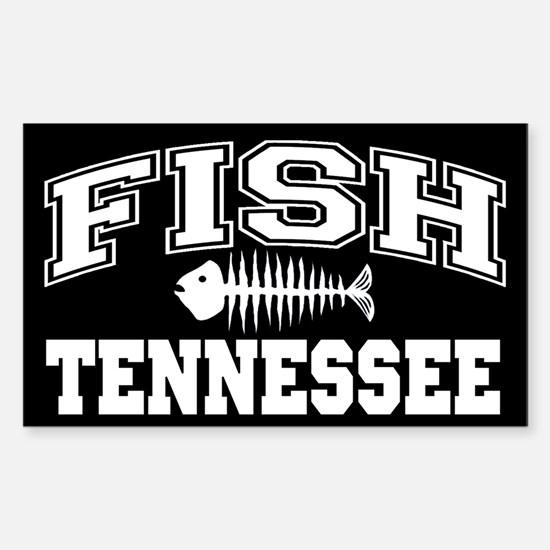 Fish Tennessee Rectangle Decal