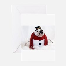 Cute Bulldog christmas Greeting Cards (Pk of 20)