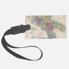 Vintage Map of Southern Italy (1 Luggage Tag