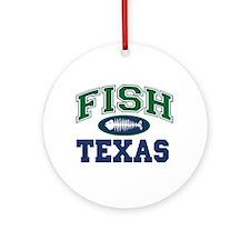 Fish Texas Ornament (Round)