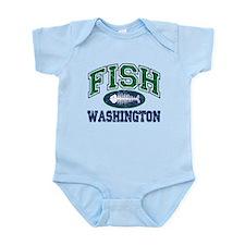 Fish Washington Infant Bodysuit