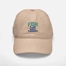 Fish West Virginia Baseball Baseball Cap