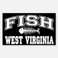 Fish West Virginia Rectangle Decal
