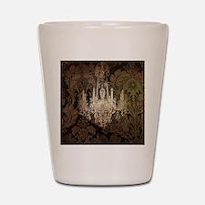 steampunk damask vintage chandelier Shot Glass
