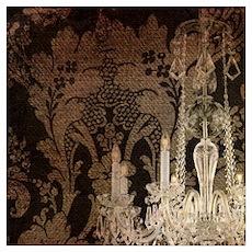 steampunk damask vintage chandelier Poster