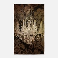 steampunk damask vintage chandelier Area Rug