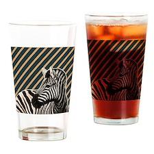 modern stripes hipster zebra Drinking Glass