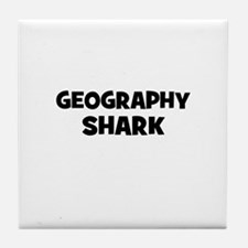 Geography Shark Tile Coaster