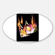 FLAMING POCKET PURPLE ACES POKER ART Decal