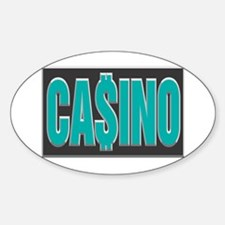 Blue Casino Logo Oval Decal