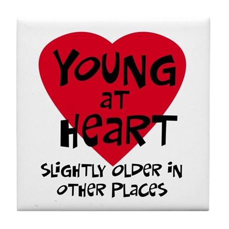 Young at heart Tile Coaster