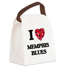 I Love My MEMPHIS BLUES Canvas Lunch Bag