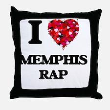 I Love My MEMPHIS RAP Throw Pillow