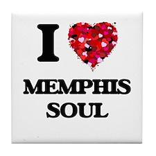I Love My MEMPHIS SOUL Tile Coaster