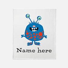 Blue Monster (p) Throw Blanket
