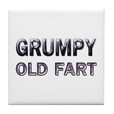 grumpy old fart Tile Coaster