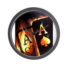 FLAMING POCKET ACES BULLETS POKER ROCKETS Wall Clo