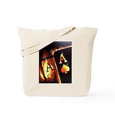 FLAMING POCKET ACES BULLETS POKER ROCKETS Tote Bag