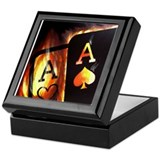 Poker Square Keepsake Boxes