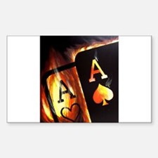 FLAMING POCKET ACES BULLETS POKER ROCKETS Decal