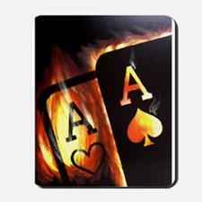 FLAMING POCKET ACES BULLETS POKER ROCKETS Mousepad