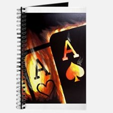 FLAMING POCKET ACES BULLETS POKER ROCKETS Journal