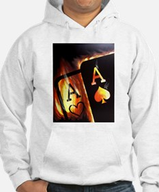 FLAMING POCKET ACES BULLETS POKER ROCKETS Hoodie
