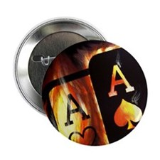 FLAMING POCKET ACES BULLETS POKER ROCKETS Button