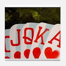 ROYAL FLUSH POKER ART DECOR Tile Coaster