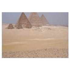 Pyramids in Cairo Poster