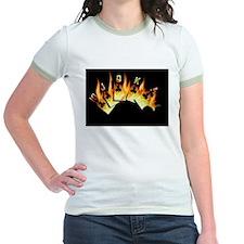 FLAMING ROYAL FLUSH POKER ART T