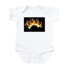 FLAMING ROYAL FLUSH POKER ART Infant Bodysuit