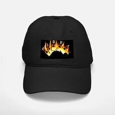 FLAMING ROYAL FLUSH POKER ART Baseball Hat