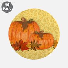 """Fall Pumpkins 3.5"""" Button (10 pack)"""