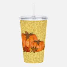 Fall Pumpkins Acrylic Double-wall Tumbler