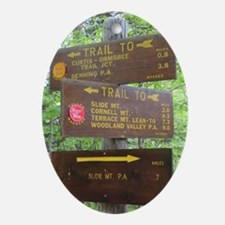 Catskill Trail Sign Oval Ornament
