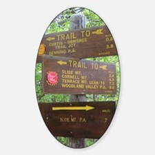 Catskill Trail Sign Sticker (Oval)